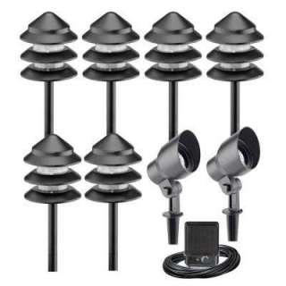 Metal Low Voltage Landscape Light Kit, Includes Power Pack and Cable