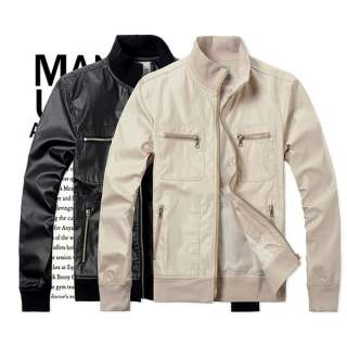 New Mens Slim Fit Zipper Jackets Coats 2 colours 3 sizes