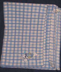 Carters Just One Year Blue airplane boy plane blanket