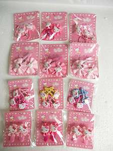 Wholesale Lots ~ Hello Kitty Elegant Hair Clip & Hair Band (12Packet