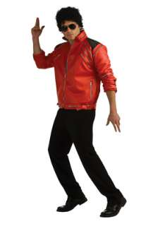 Michael Jackson Deluxe Red Zipper Jacket Adult Costume for Halloween