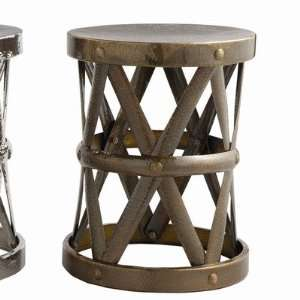 Costello Side Table in Distressed Antique Bronze