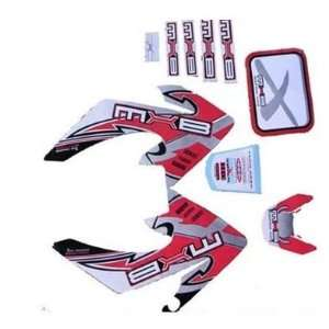 CRF 50cc Pit Bike Graphics Stickers Red Dirt Bike Decals Moto X Baja
