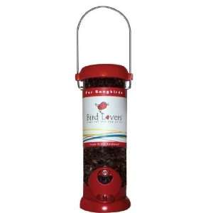 8 inch Red Bird Lovers Seed Feeder Patio, Lawn & Garden