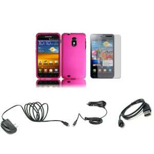 4G Touch (Sprint) Premium Combo Pack   Hot Pink Hard Shield Case Cover