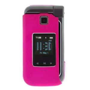 Solid Hot Pink Rubberized Snap On Crystal Hard Case for