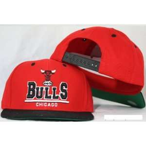 Chicago Bulls Snapback 3D Red / Black Two Tone Adjustable Plastic Snap