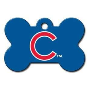Quick Tag Chicago Cubs MLB Bone Personalized Engraved Pet ID Tag
