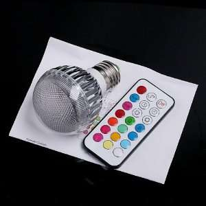 2 Million Color RGB E27 LED Flash Light Bulb with Remote