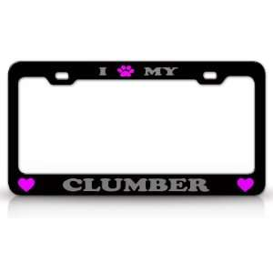 High Quality STEEL /METAL Auto License Plate Frame, Black/Silver