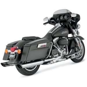 Chrome Monster Oval Twin Slash Slip On Mufflers For Various Harley