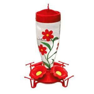Garden Treasures Red Flowers Hummingbird Feeder HB 0154B