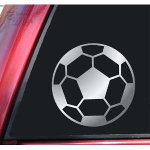 Soccer Ball Vinyl Decal Sticker   Shiny Chrome Automotive