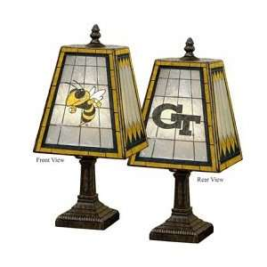 Georgia Tech Yellow Jackets Art Glass Table Lamp