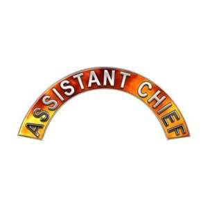 Assistant Chief Real Fire Firefighter Fire Helmet Arcs / Rocker Decals