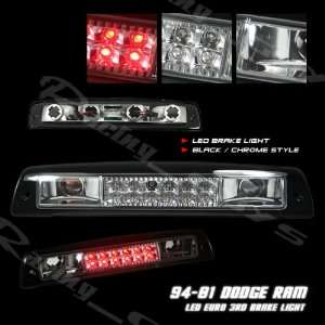 Dodge Ram Led Tail Lights Black Chrome LED Third Brake Lights