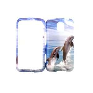LG OPTIMUS M DOLPHINS HARD PLASTIC COVER CASE PROTECTOR