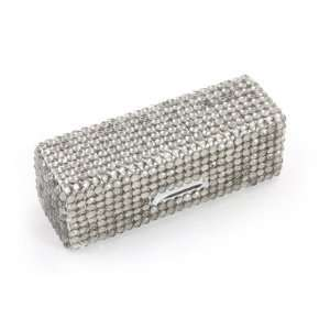 Grey Crystal Lipstick Case Holder Beauty