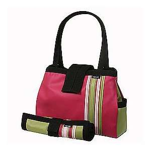 Raspberry Bomber Diaper Tote with Changing Pad Baby