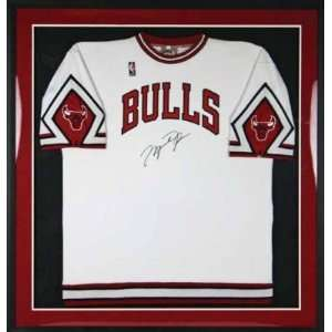 Michael Jordan Signed Official Bulls Warm Up Framed Jsa