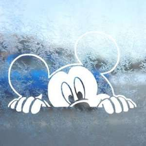 MICKEY MOUSE White Decal Car Laptop Window Vinyl White