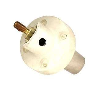 Taper Nose, Female, Panel Receptacle, 30 Degree, Threaded Stud, White