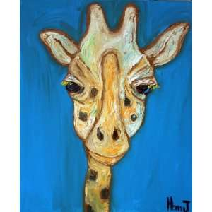 Giraffe Painting, Animal Paintings, Nursery Art Decor