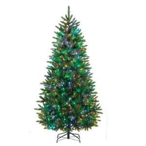 6.5 Pre Lit Slim Classic Green Pine Artificial Christmas Tree