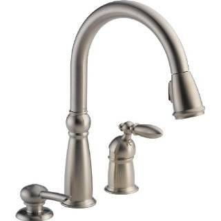 Delta 16955 SSSD DST Victorian Single Handle Pull Down Kitchen Faucet