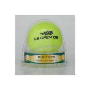 Roger Federer 2008 US Open Match Used Ball Sports