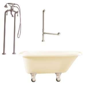 Floor Mounted Faucet with Handshower from the Brighton Collection LB2