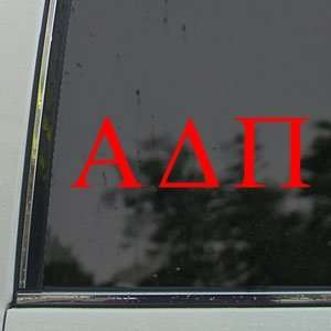 ALPHA DELTA PI Sorority Red Decal ADPi Window Red Sticker