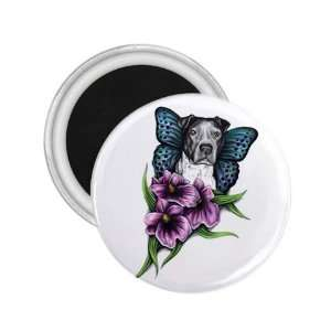 Tattoo Butterfly Dog Art Fridge Souvenir Magnet 2.25