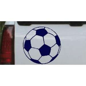Navy 14in X 14.0in    Soccer Ball Sports Car Window Wall Laptop Decal