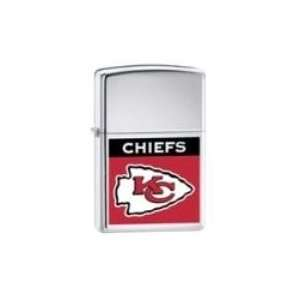 Zippo Lighter NFL Kansas City Chiefs, High Polished Chrome