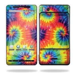 Vinyl Skin Decal for Motorola Droid X (MB 810) or X2 (MB 870)  Tie Dye