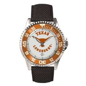 Watches  Texas Longhorns Mens Competitor Watch W/Leather Band