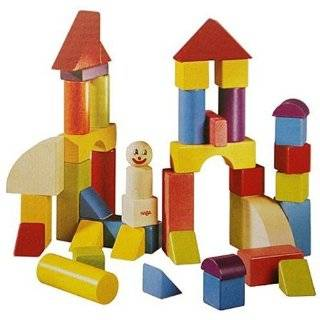Colored Wooden Building Blocks 30 pieces  Toys & Games