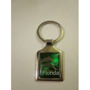 Florida Green Dolphins Metal Key Chain