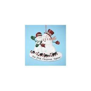 Club Pack of 12 First Christmas Together Snowman Couple