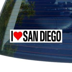 I Love Heart SAN DIEGO   Window Bumper Sticker Automotive