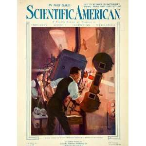 1921 Cover Scientific American Howard Brown Projectionist Booth Movie