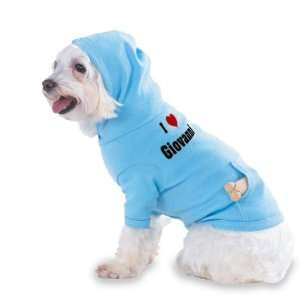 Love/Heart Giovanni Hooded (Hoody) T Shirt with pocket for your Dog