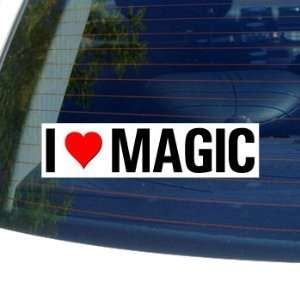 I Love Heart MAGIC   Window Bumper Sticker Automotive