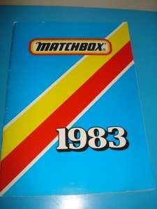 1983 Matchbox Catalogue Diecast Cars Toys Kits Military