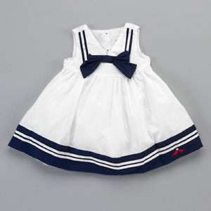 new NWT LILYBIRD girls Nautical Sailor Dress with Bow