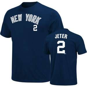 MLB   Derek Jeter New York Yankees Navy Name & Number Tee