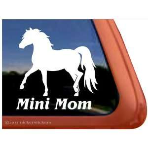 Mini Mom Miniature Horse Vinyl Window Decal Automotive