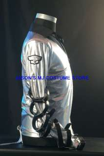 MICHAEL JACKSON SILVER BAD TOUR JACKET SHIRT Pro Series