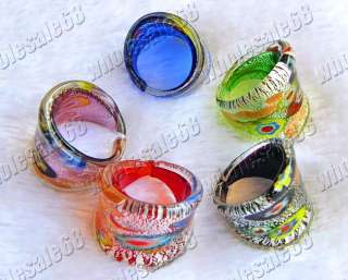 Wholesale lot 36ps Charm Colorful Murano glass Ring New